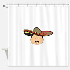 MAN IN SOMBRERO Shower Curtain