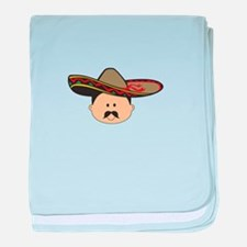 MAN IN SOMBRERO baby blanket