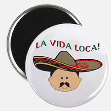 LA VIDA LOCA THE CRAZY LIFE Magnets
