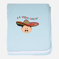 LA VIDA LOCA THE CRAZY LIFE baby blanket