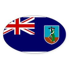 Montserrat Flag Oval Decal