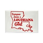 louisiana Girl Rectangle Magnet