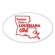 louisiana Girl Oval Decal