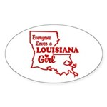 louisiana Girl Oval Sticker