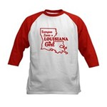 louisiana Girl Kids Baseball Jersey