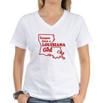 louisiana Girl Women's V-Neck T-Shirt