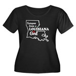 louisiana Girl Women's Plus Size Scoop Neck Dark T