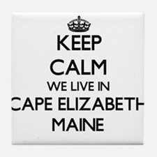 Keep calm we live in Cape Elizabeth M Tile Coaster