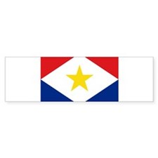 Saba Flag Bumper Bumper Sticker