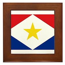 Saba Flag Framed Tile
