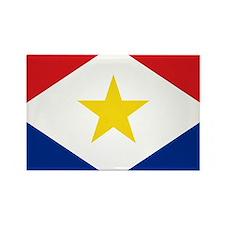 Saba Flag Rectangle Magnet