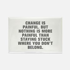 Change is painful But nothing is more painful than