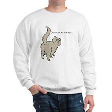 Gray Persian Tail Sweatshirt