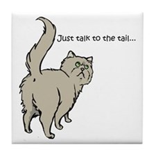 Gray Persian Tail Tile Coaster