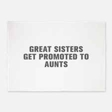 Great sisters get promoted to aunts-Akz gray 5'x7'