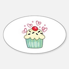 CUPCAKE AND HEARTS Decal