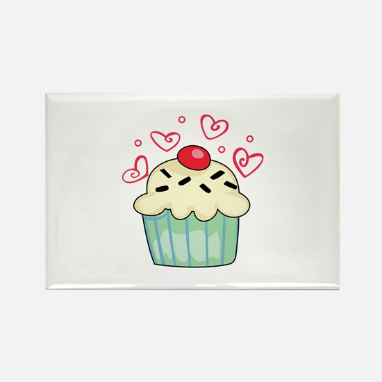 CUPCAKE AND HEARTS Magnets
