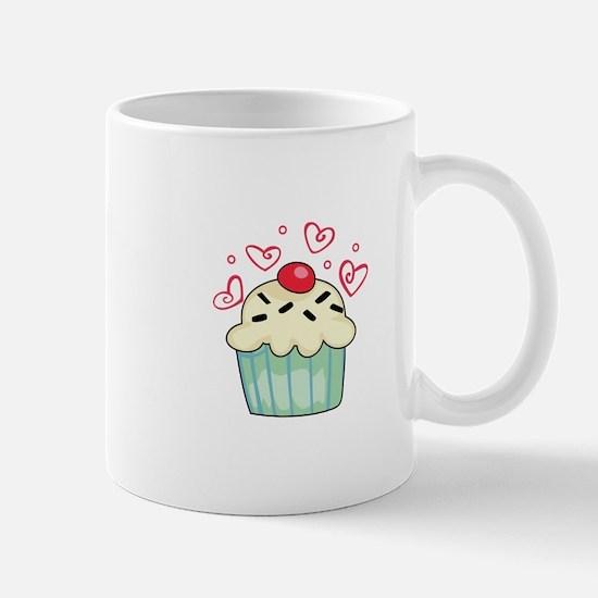 CUPCAKE AND HEARTS Mugs