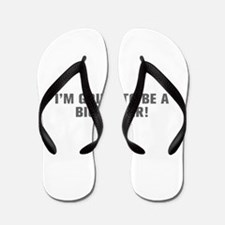 I m going to be a big sister-Akz gray Flip Flops