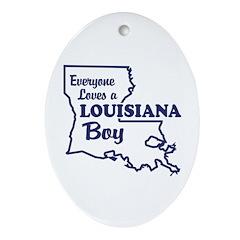 Louisiana Boy Oval Ornament