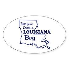 Louisiana Boy Oval Decal
