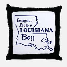 Louisiana Boy Throw Pillow
