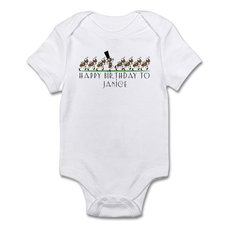 Happy Birthday Janice (ants) Infant Bodysuit