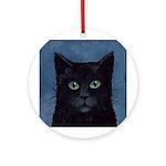 Black Cat Ornament (Round)