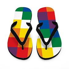 Wiphala Flip Flops