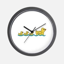 MOTHER AND BABY DUCKS Wall Clock
