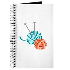 KNITTING NEEDLES AND YARN Journal