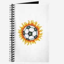 FLAMING SOCCER BALL Journal
