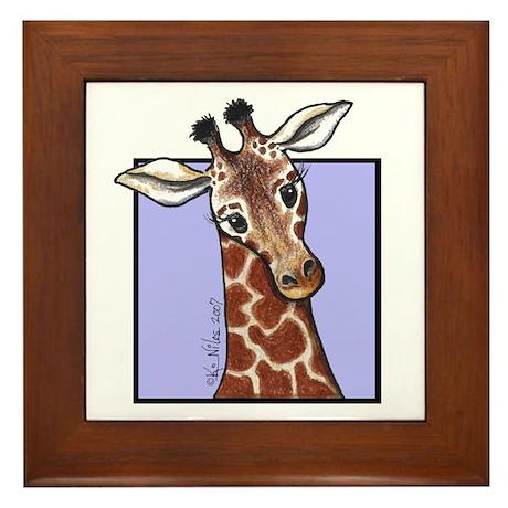 KiniArt Giraffe Framed Tile