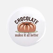 "CHOCOLATE HUMOR 3.5"" Button"