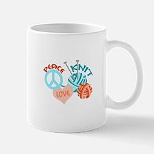 PEACE LOVE KNIT Mugs