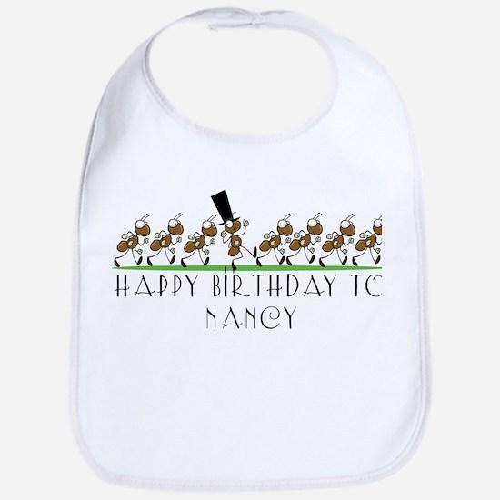 Happy Birthday Nancy (ants) Bib