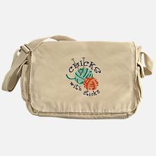 CHICKS WITH STICKS Messenger Bag