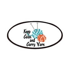 KEEP CALM AND CARRY YARN Patch