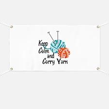 KEEP CALM AND CARRY YARN Banner