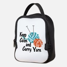 KEEP CALM AND CARRY YARN Neoprene Lunch Bag