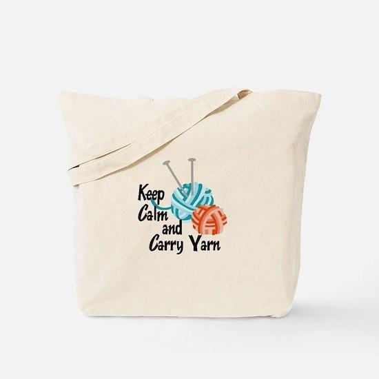 KEEP CALM AND CARRY YARN Tote Bag
