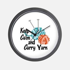KEEP CALM AND CARRY YARN Wall Clock