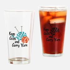 KEEP CALM AND CARRY YARN Drinking Glass