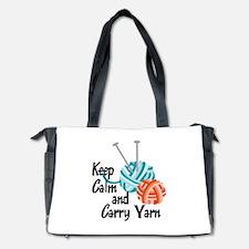 KEEP CALM AND CARRY YARN Diaper Bag