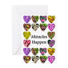 BELIEVE IN MIRACLES Greeting Card