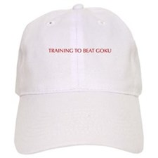 Training to beat Goku-Opt red Baseball Baseball Cap