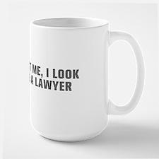 Trust me I look like a lawyer-Akz gray Mugs