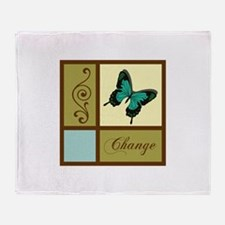 APPLIQUE CHANGE BUTTERFLY Throw Blanket