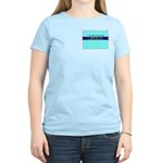 Women's Pink T-Shirt for True Blue Wyoming Liberal