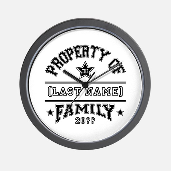 Family Property Wall Clock